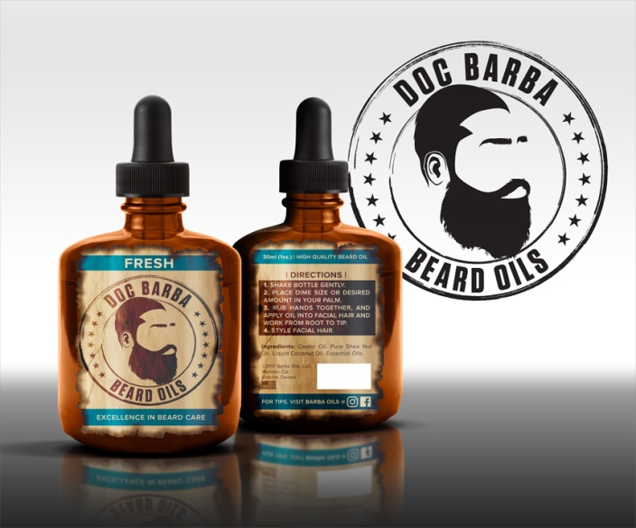 Barba Beard Oils | Label Render | 2017