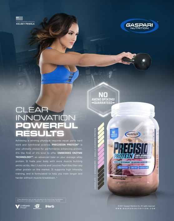Print Ad | Oxygen Magazine | Gaspari Nutrition | 2017