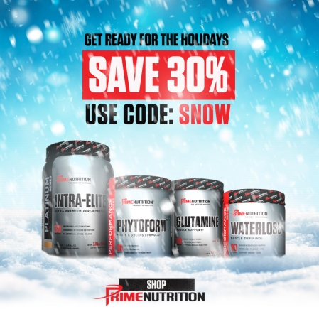 Prime Nutrition 30% OFF Holiday Social Graphic